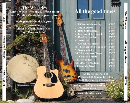 All the good times CD back cover