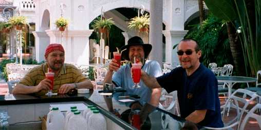 The 'Singapore Slingers' - get that straw out my nose!
